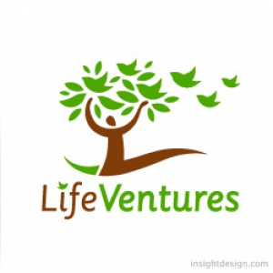 LifeVentures logo design