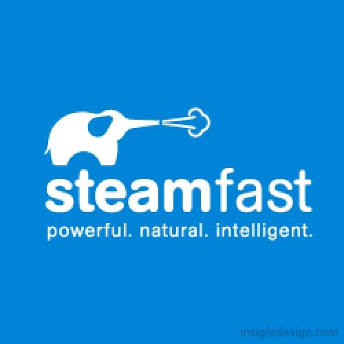 Steamfast brand logo design