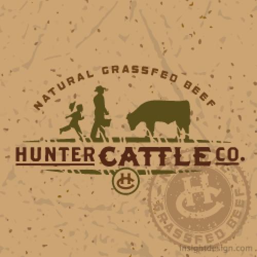 Hunter Cattle Company Logo design