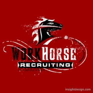 WorkHorse Recruiting logo design