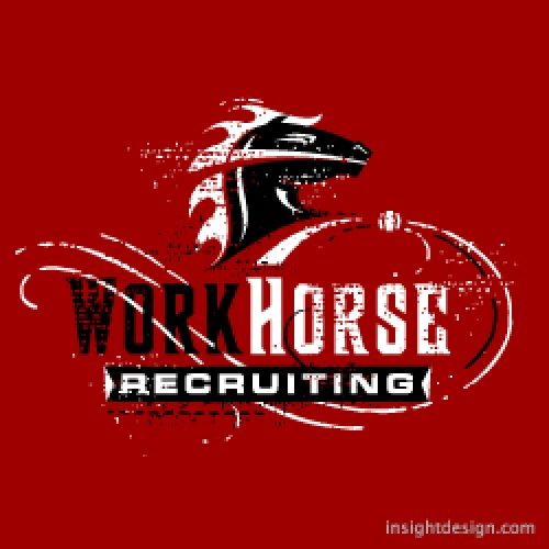 WorkHorse Recruiting logo design