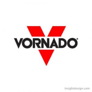 Vornado brand logo design