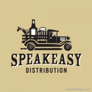 SpeakEasy Distribution Logo Design