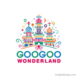 GooGoo Wonderland logo design