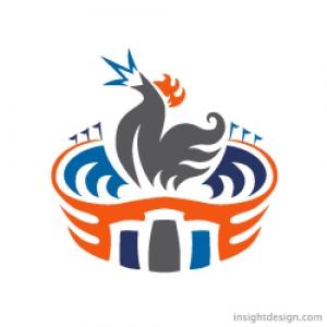 Stadium Wings Logo Design