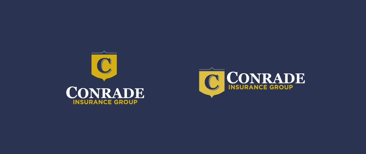 Conrade blue logo website