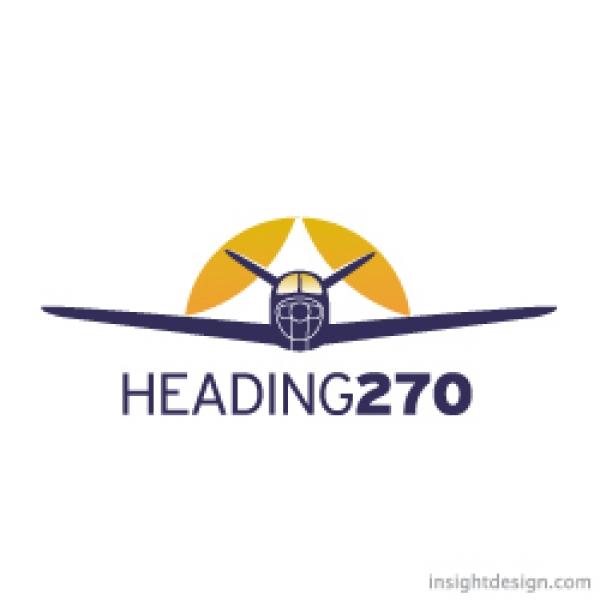 Heading270 Aviation Logo Design