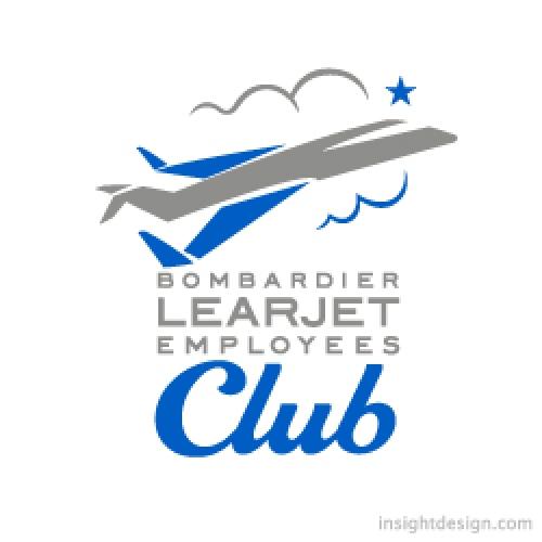 Bombardier Learjet logo design